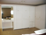 Murphy bed with Vanity and Closet Unit